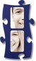 Mobile Preview: Puzzle Rahmen, 2 mal 10x15cm - blau