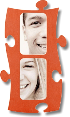Puzzle Rahmen, 2 mal 10x15cm - orange