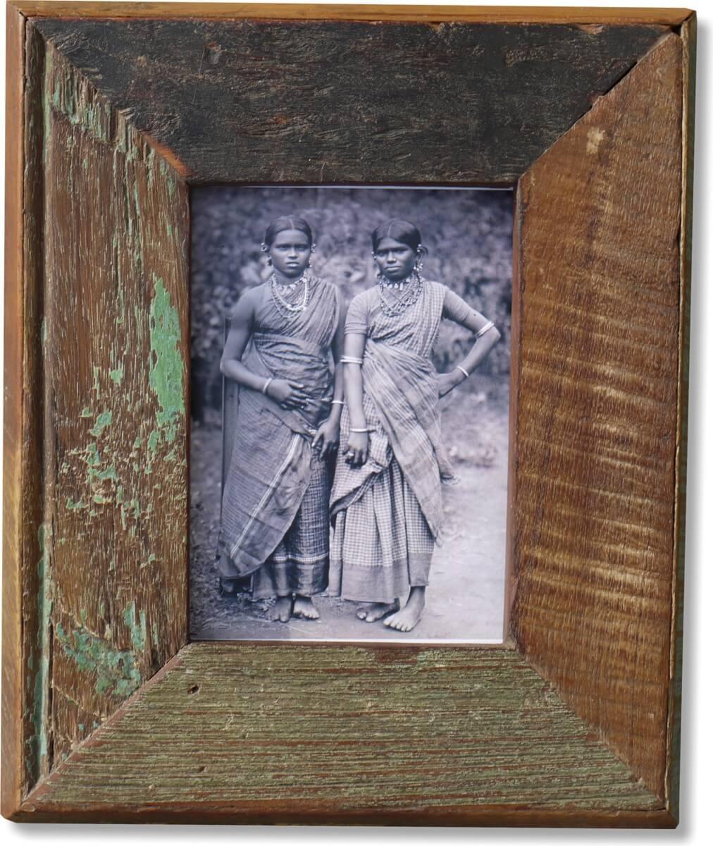 Bilderrahmen Holz Recycling ~   Bilderrahmen  Classic, 10x15cm mit Farbresten aus recyceltem Holz