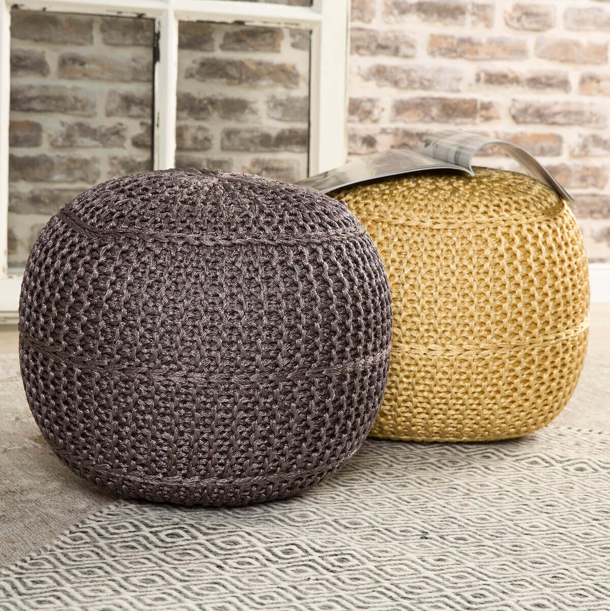 Pouf Mesh Outdoor Anthracite