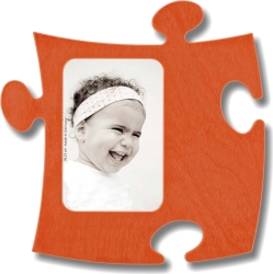 Puzzle Rahmen, 9x13cm - orange